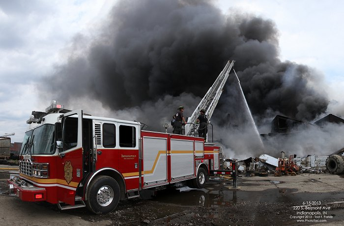 6-15-2013 - 220 s  belmont ave - indianapolis  in - 3-alarm building fire- phototac com